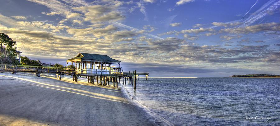 Best Seascapes Photograph - Low Tide Sunrise Tybee Island by Reid Callaway
