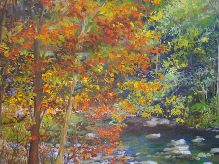 Landscape Painting - Low Water by Peggy Klinger
