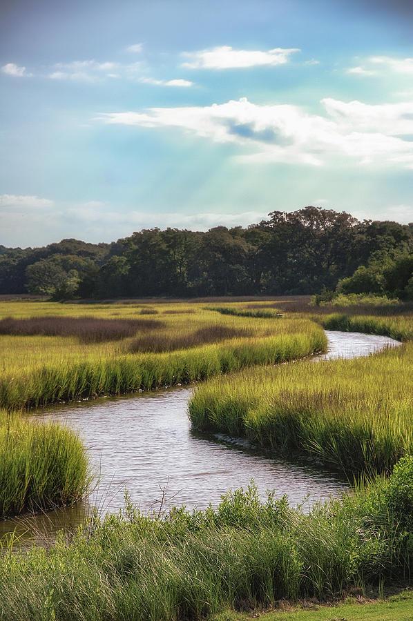 Marsh Photograph - Lowcountry Creek by Drew Castelhano