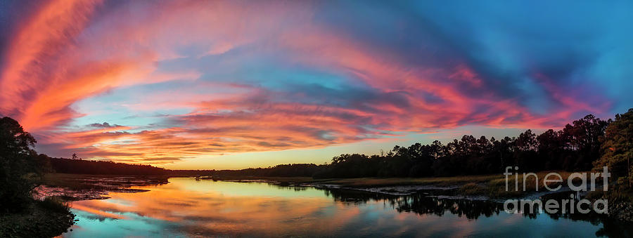 Lowcountry Photograph - Lowcountry Sunset Charleston Sc by Dustin K Ryan