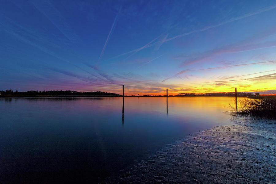 Savannah Photograph - Lowcountry Sunset by Mike Dunn