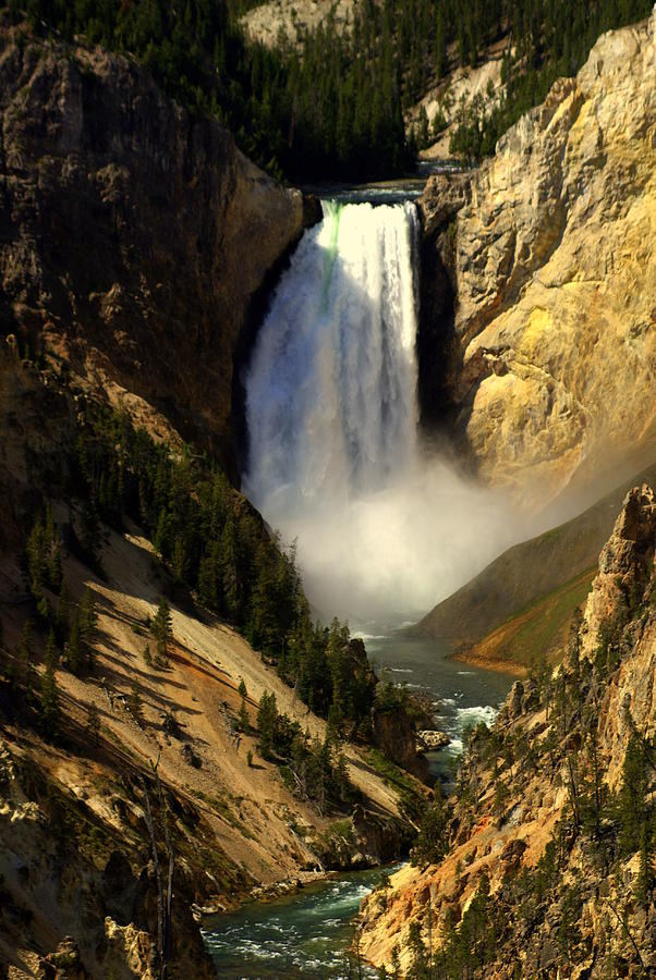 Yellowstone National Park Photograph - Lower Falls 2 by Marty Koch