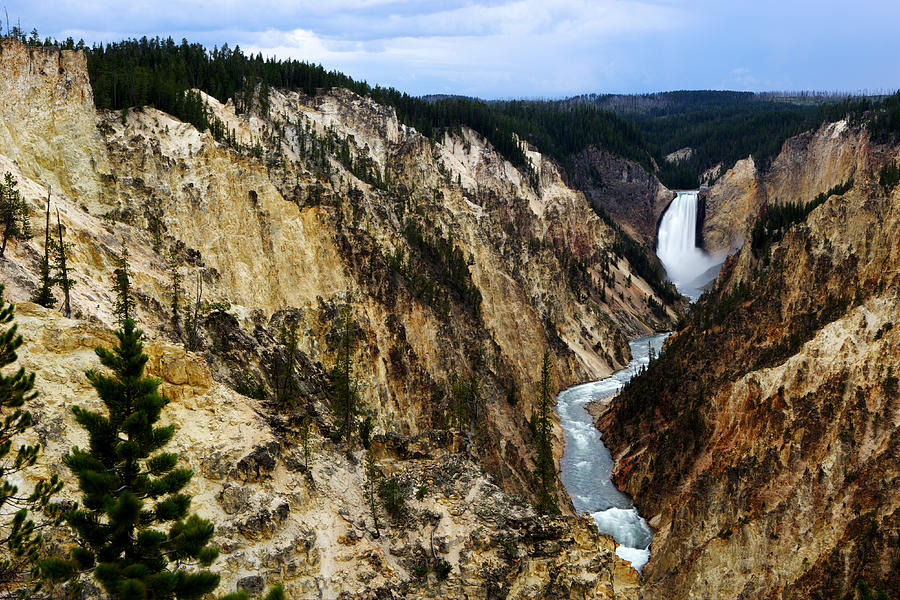 Wyoming Photograph - Lower Falls by Eric Foltz