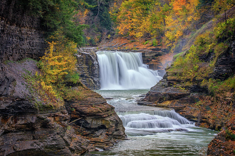 Autumn Photograph - Lower Falls In Autumn by Rick Berk