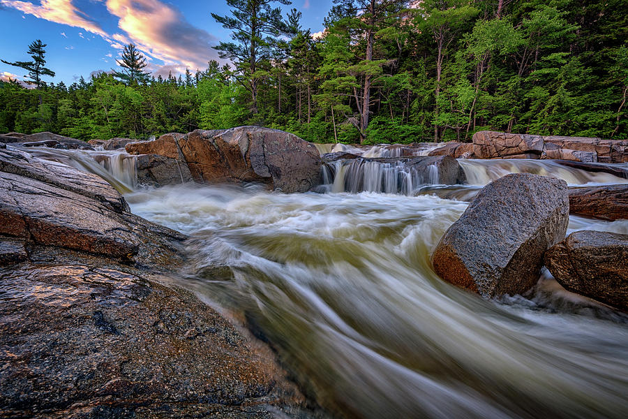 White Mountains Photograph - Lower Falls Of The Swift River by Rick Berk