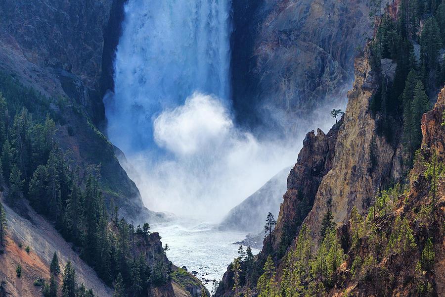Yellowstone Photograph - Lower Falls by Scott Moore
