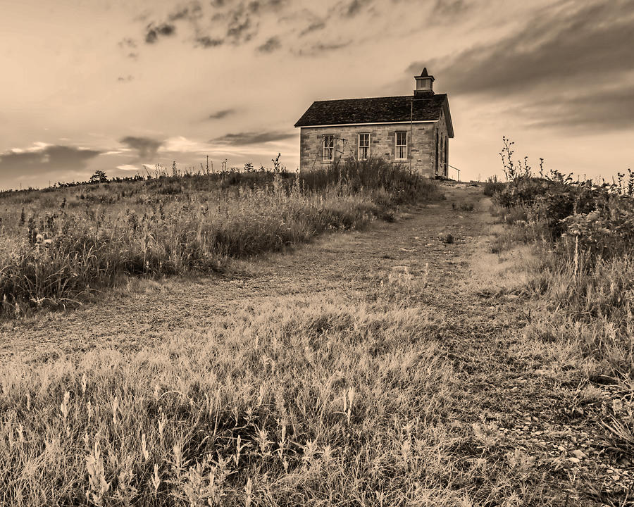 Schoolhouse Photograph - Lower Fox Creek School by Don Spenner