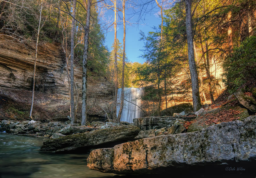 Waterfall Photograph - Lower Greeter Falls 2 by Dale Wilson
