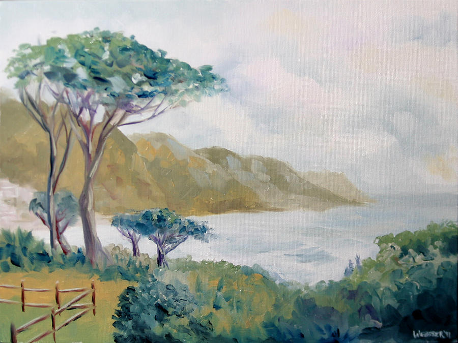 Landscape Painting - Lower Kloof Road Cape Town South Africa Oil Painting by Mark Webster
