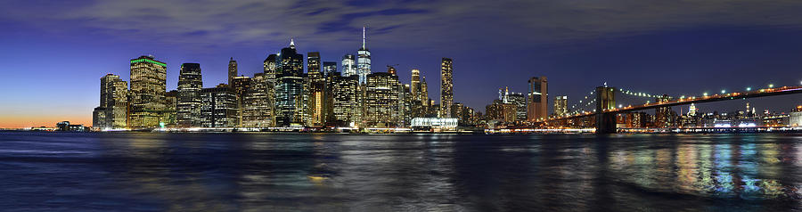 Lower Manhattan from Brooklyn Heights at Dusk - New York City by Carlos Alkmin