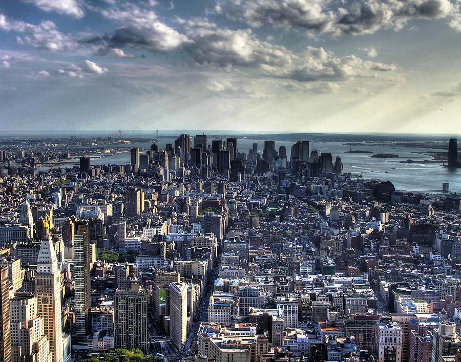 Manhattan Photograph - Lower Manhattan From Empire State Building by Joe Paniccia