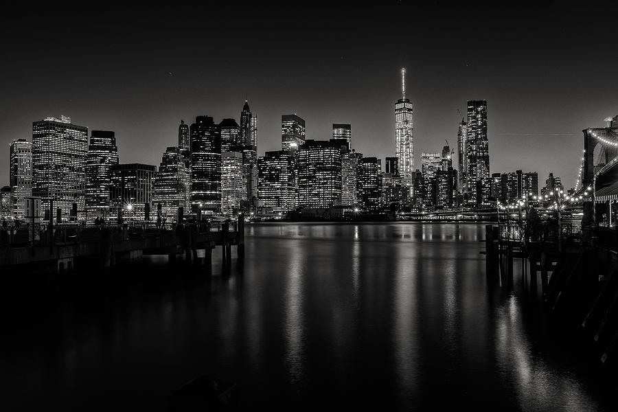 Nyc Photograph - Lower Manhattan From The Brooklyn Piers by Dick Wood
