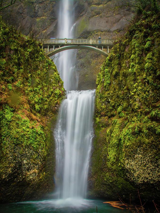 Waterfalls Photograph - Lower Multnomah Falls 1 by Jason Brooks