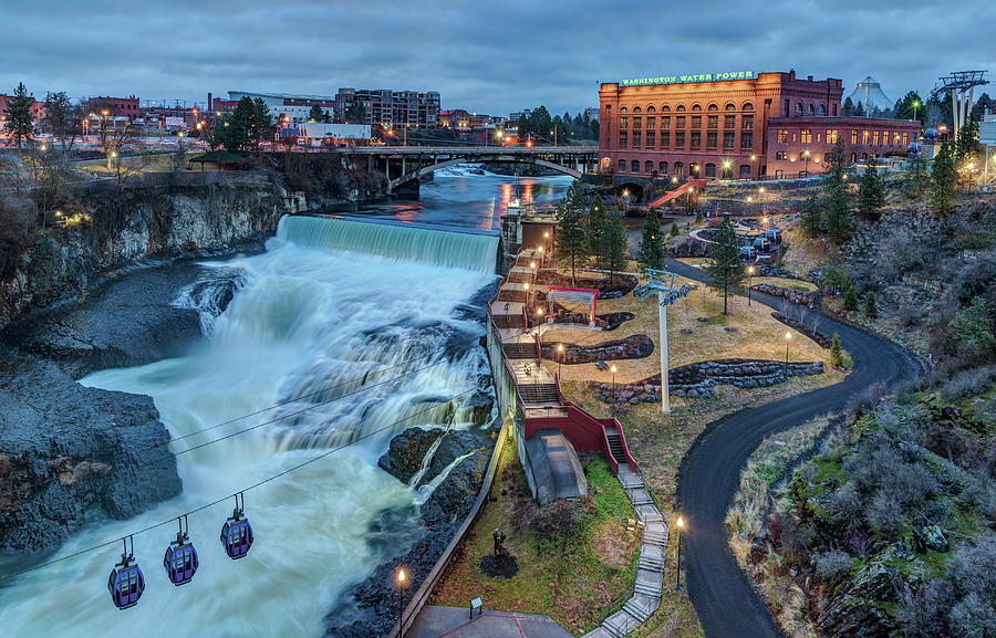 Lower Spokane Falls Early Spring by Harold Coleman
