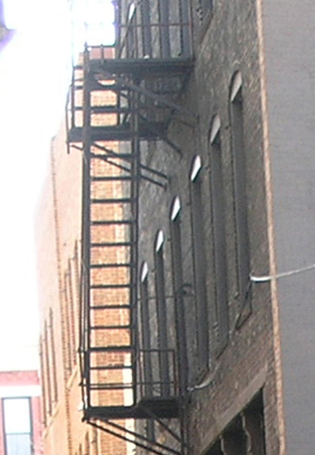 Fire Escape Photograph - Lowertown Fire Escape by Janis Beauchamp