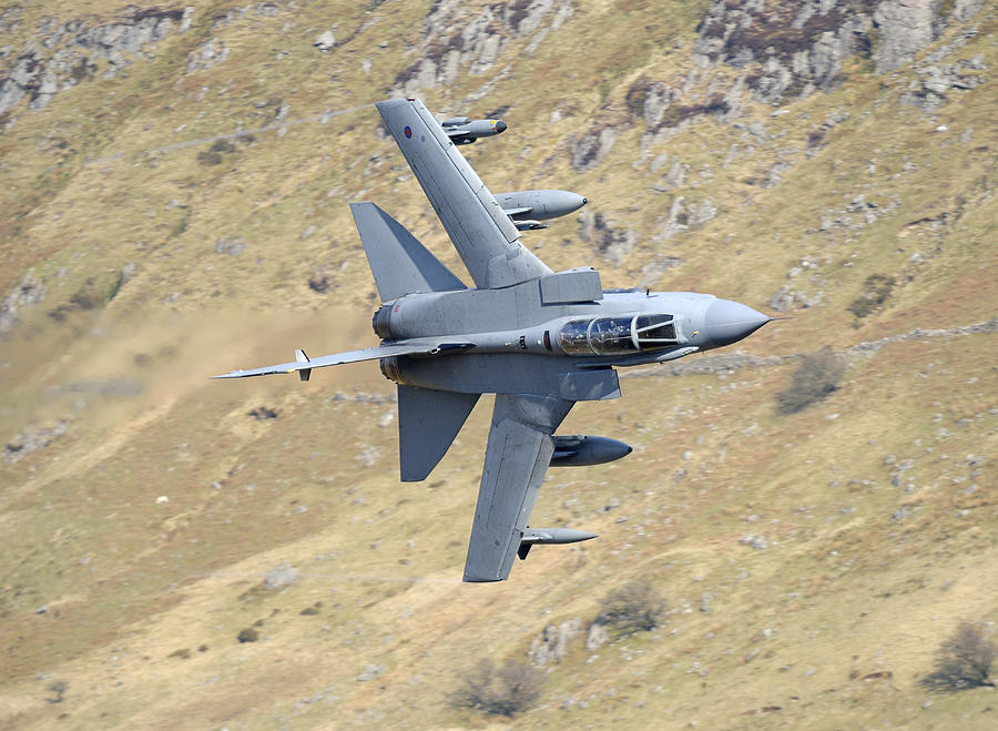 Jet Photograph - Lowflying Tornado In The Welsh Hills 01 by Barry Culling