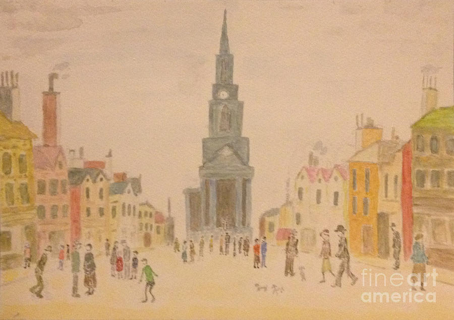 Japanese Artist Painting - Lowry And Shadow Of Japan by Sawako Utsumi
