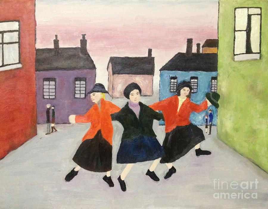 L.s. Lowry Painting - Lowry in Japanese color, space, and time by Sawako Utsumi