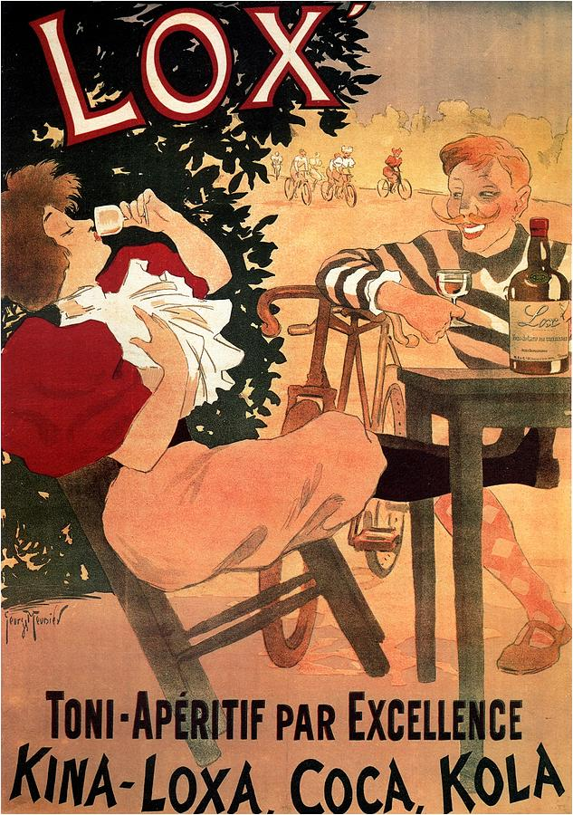 Lox - French Wine And Spirit Poster - Vintage Advertising Poster Mixed Media