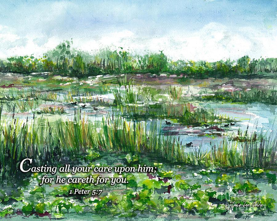 Loxahatchee Digital Art - Loxahatchee Marsh 1 Peter 5 by Janis Lee Colon