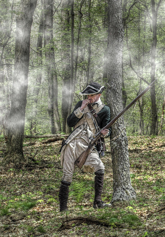War Digital Art - Loyalist Skirmisher  American Revolution by Randy Steele