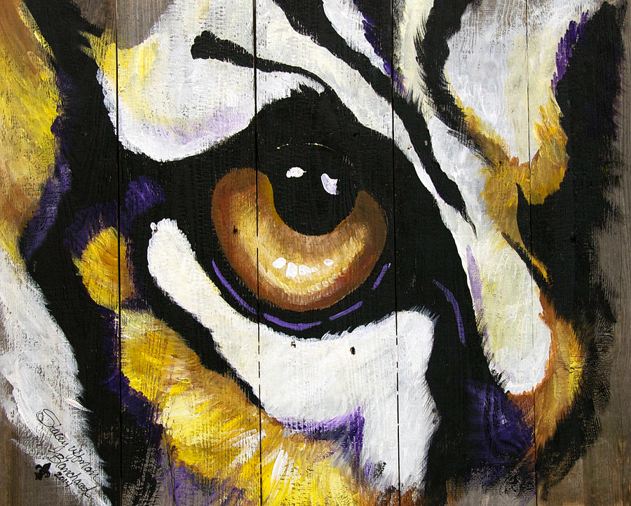 Lsu Tiger Eye Painting By Stacey Blanchard Beauteous Lsu Bedroom Style Painting
