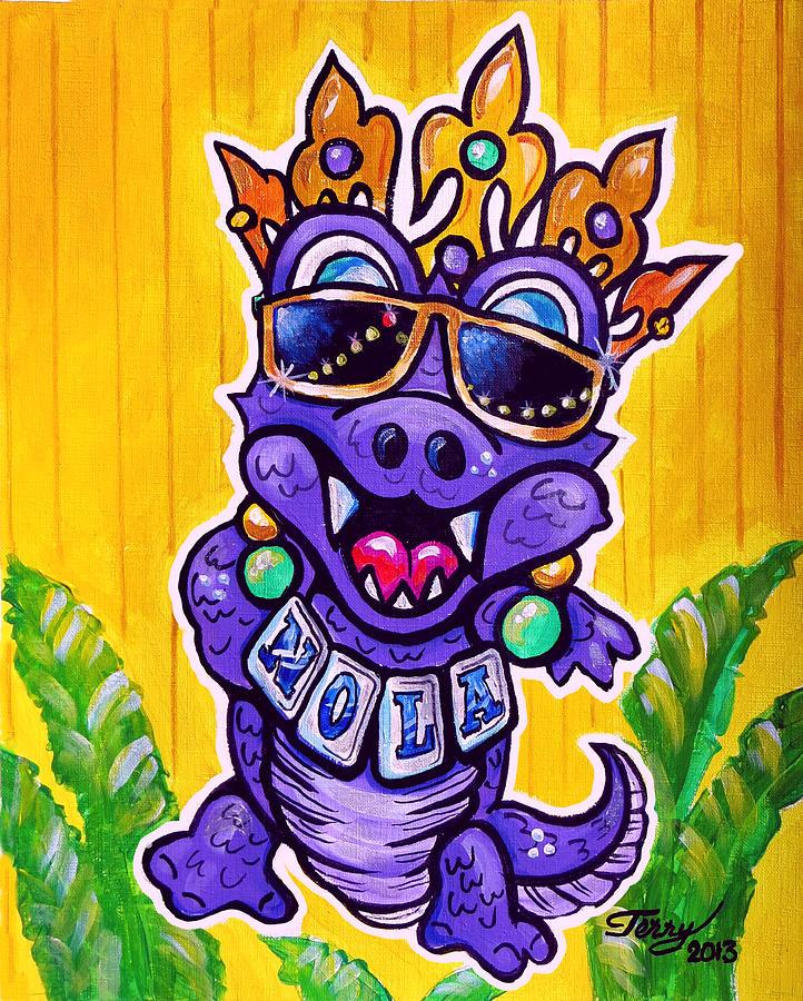 Nola Painting - Lt Aka Nola Gator by Terry J Marks Sr