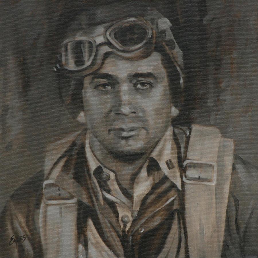 Joe Gibson Painting - Lt Commandor Joe Gibson by Linda Eades Blackburn