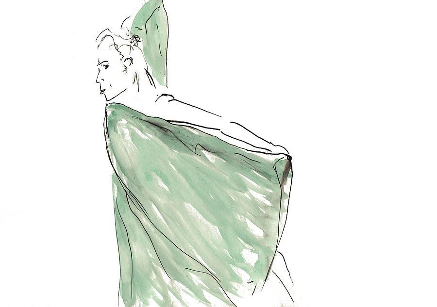 Watercolor Drawing - Lu by Pati Peccin