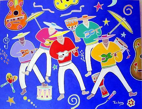 Luar Do Sertao Painting by THAIS IBANEZ  Tropical Art