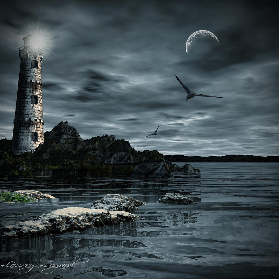 Lighthouse Photograph - Lucent Dimness by Lourry Legarde