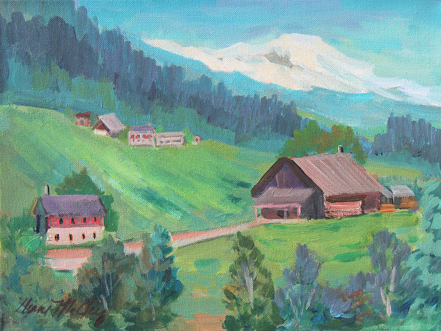 Lucerne Painting - Lucerne Countryside by Diane McClary