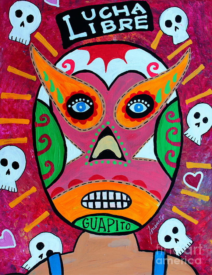 Lucha Libre Painting - Lucha Libre by Pristine Cartera Turkus