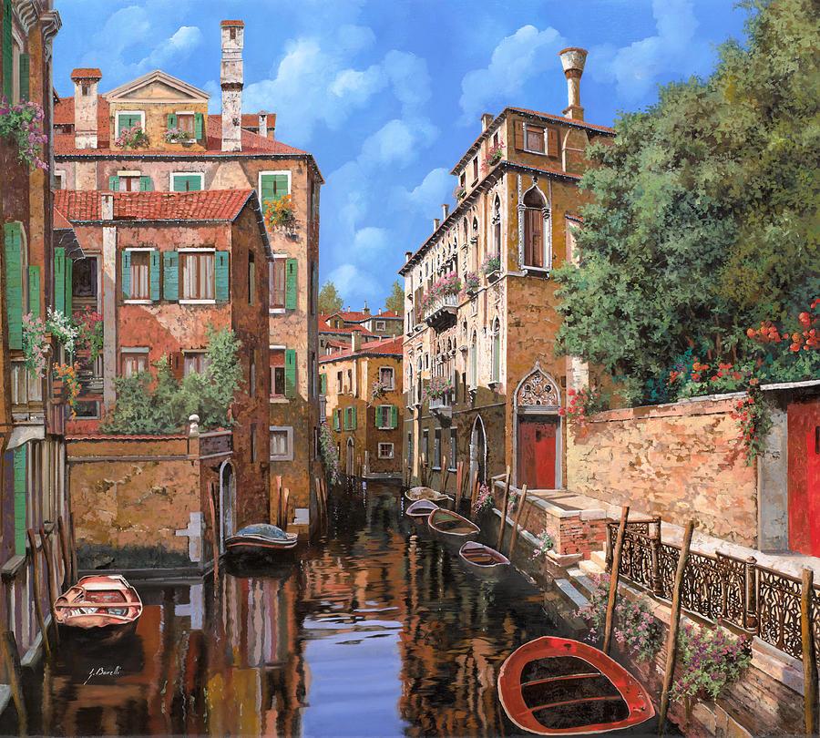 Venice Painting - Luci A Venezia by Guido Borelli