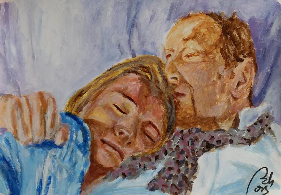 Kate Moss Painting - Lucian and Kate III by Bachmors Artist