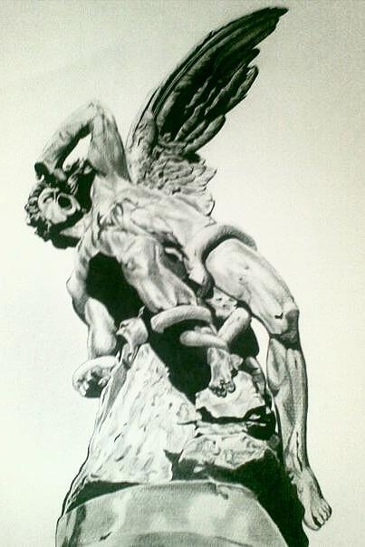 Lucifer the fallen angel drawing by gabrielle roales black and white drawing lucifer the fallen angel by gabrielle roales altavistaventures Images
