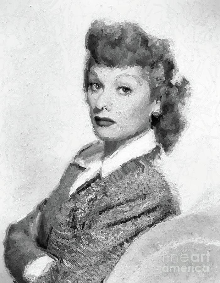Lucille Ball, Vintage Actress Digital Art