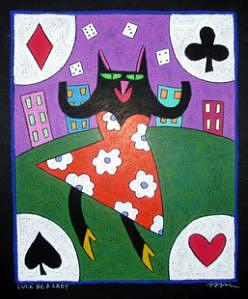 Luck Be A Lady Painting by Nancy  Coffelt