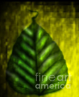 Landscape Digital Art - Luck Leaf by Meenakshi Prajapati