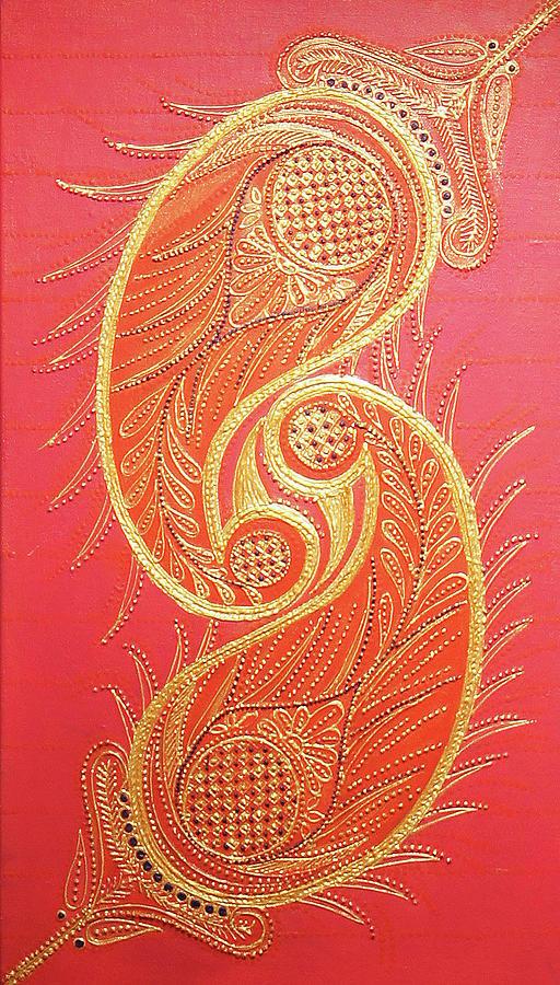 Lucknows Chikangari Painting by Arpita B Ruparel
