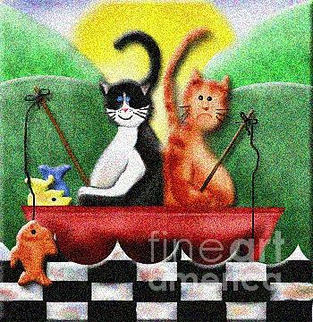 Cat Digital Art - Lucky Day by Grenette Gillespie