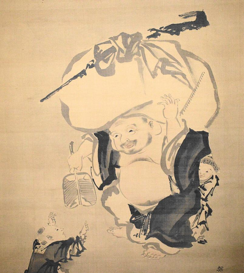 Love Drawing - Lucky Gods Hotei by Keisuke Ueda