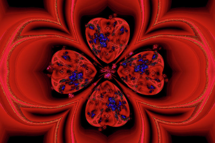 Lucky Love Kaleidoscope Digital Art