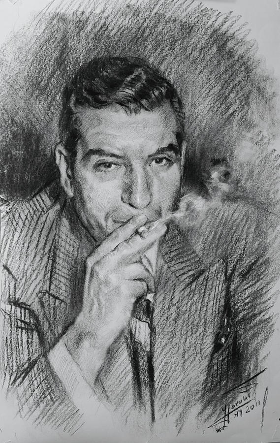 Lucky Luciano Drawing By Ylli Haruni