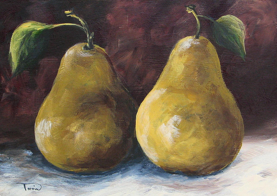 Pear Painting - Lucky Pears by Torrie Smiley