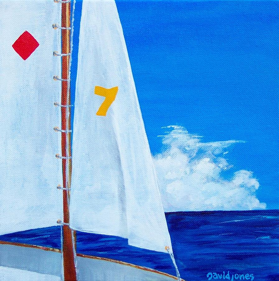 Acrylic Painting - Lucky Seven by Dave Jones