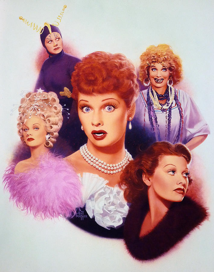 I Love Lucy Painting - Lucy A Tribute Early Career by Bill Mather