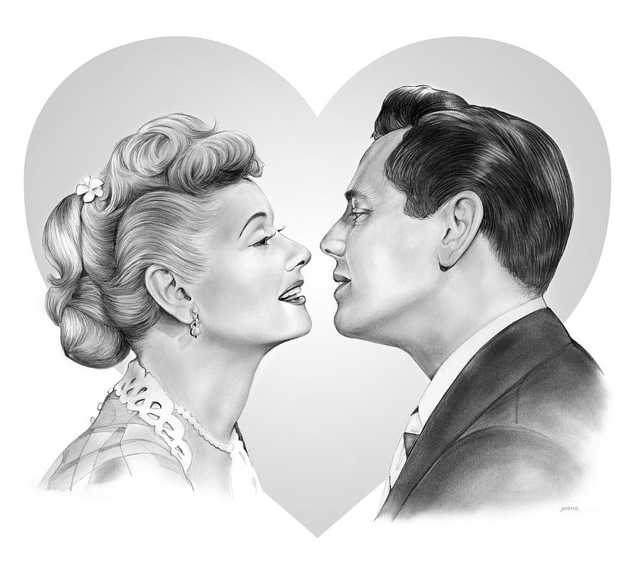 Lucy And Desi Drawing