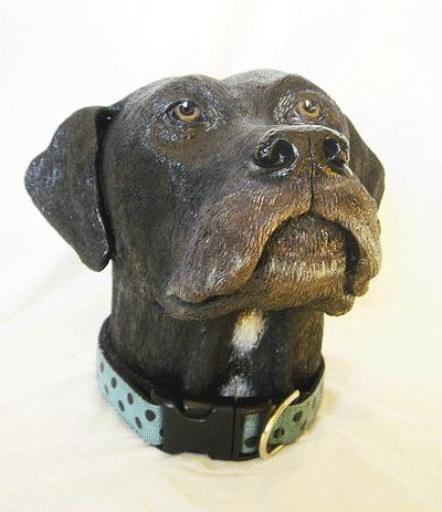 Dog Sculpture - Lucy Dog by Tina Hariu