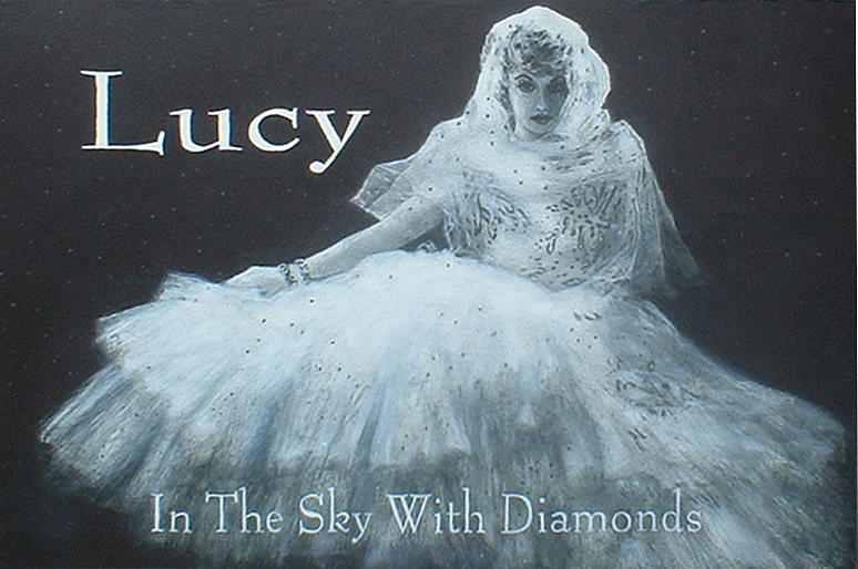 Lucy Painting - Lucy In The Sky With Diamonds by Lou McAfee